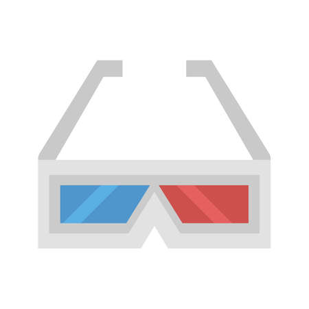 view icon: Glasses, movie, view icon vector image. Can also be used for multimedia. Suitable for use on web apps, mobile apps and print media.