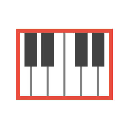 keyboard music: Piano, keyboard, music icon vector image. Can also be used for multimedia. Suitable for use on web apps, mobile apps and print media.