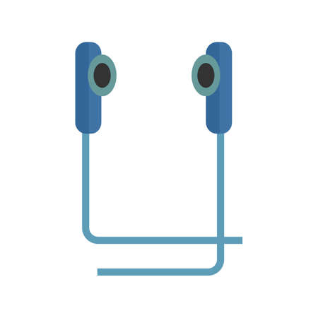 earbuds: Earphone, ear, audio icon vector image. Can also be used for multimedia. Suitable for use on web apps, mobile apps and print media.