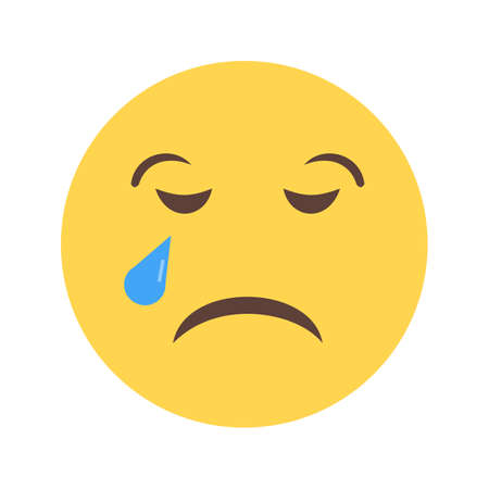 Crying icon Illustration