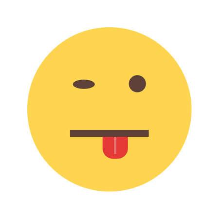 sticking to: Tongue sticking icon Illustration