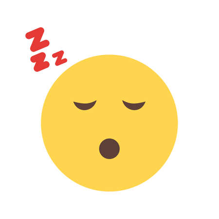 sleepiness: Sleepy icon Illustration