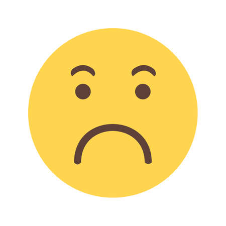 worrying: Worried expression, upset icon