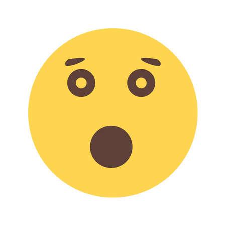 gesichtsausdruck: Ausdruck �berrascht, ver�rgert icon Illustration