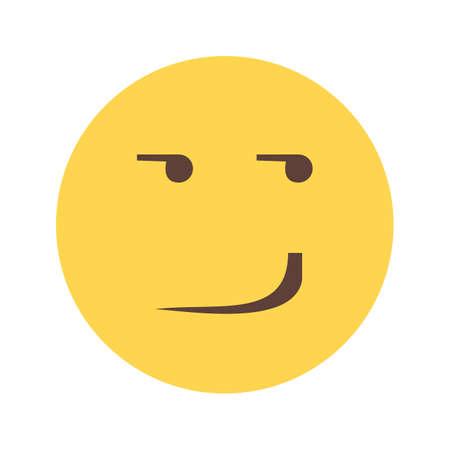 smirking: Smirking mood expression icon