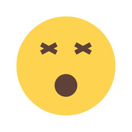 dizziness: Dizzy, dizziness head icon Illustration