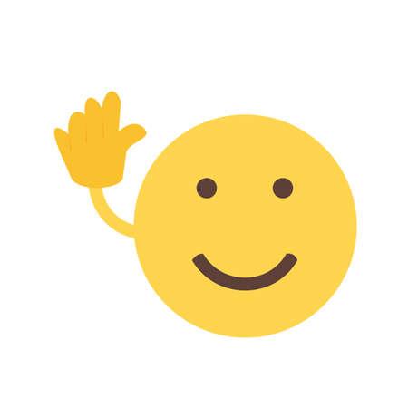 Bye, pictogram vaarwel Stock Illustratie