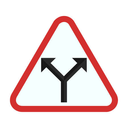 danger ahead: Sign, road, intersection icon vector image. Can also be used for traffic signs. Suitable for web apps, mobile apps and print media.