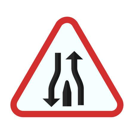 open road: Open Road straight icon Illustration