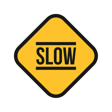 slow: Slow sign icon Illustration