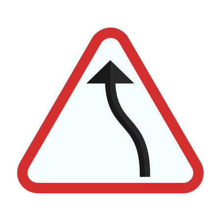 bend: traffic bend sign icon