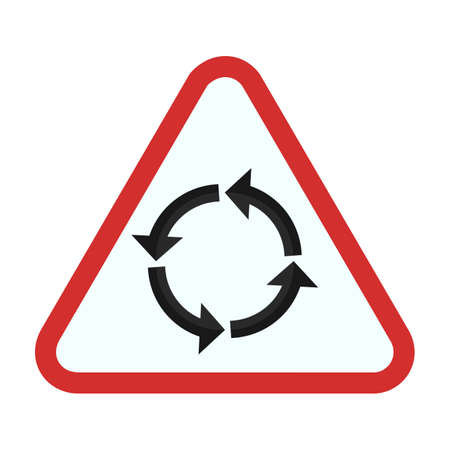 round: round road sign icon