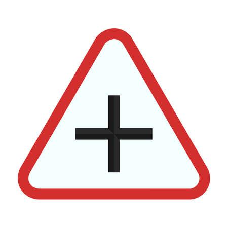 cross road: Road cross icon