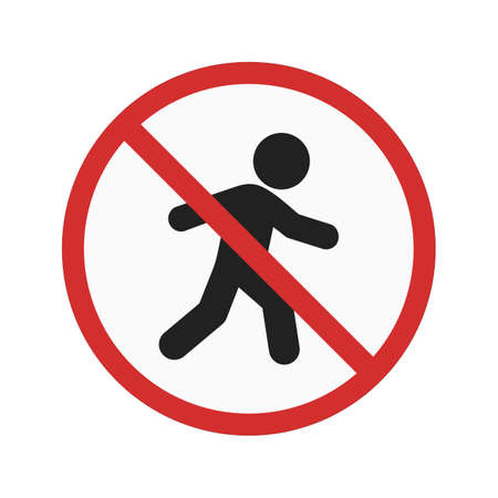 no person: No pedestrian sign icon