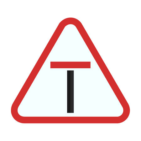 end: End dead road sign icon