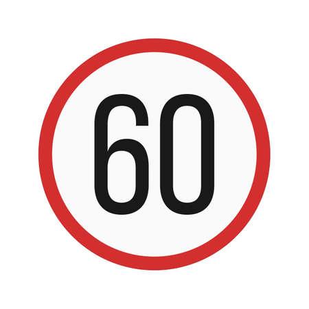 60: speed 60 icon