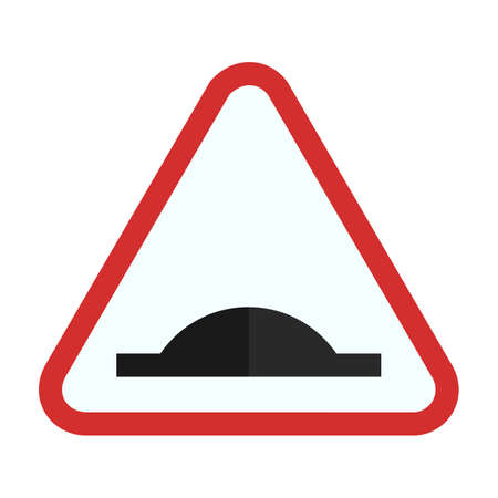 bump: Bumpy Road warning sign icon Illustration