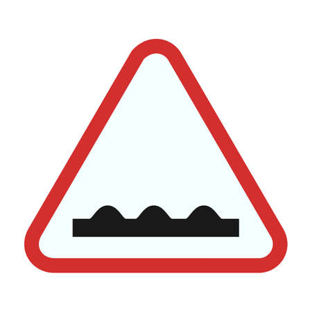 rough road: Rough Road sign icon Illustration