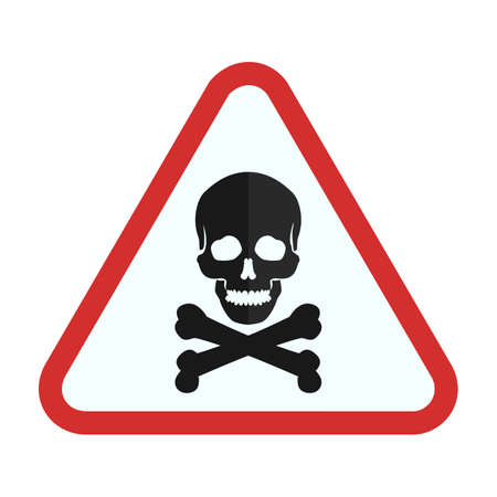 risks ahead: Danger sign icon