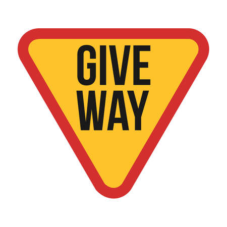 give: give way sign icon