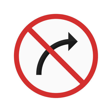 turn on: Turn right icon