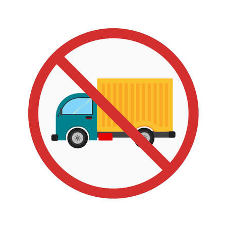 restrictions: No truck icon