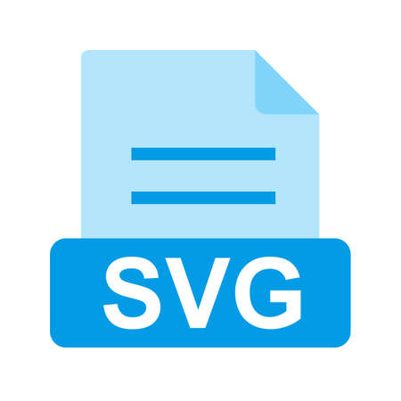 SVG file icon Stock Vector - 45612381