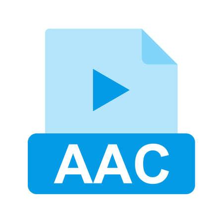 wav: AAC file icon Illustration