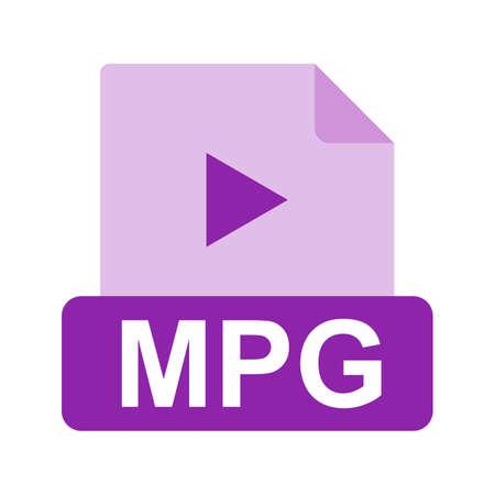 mpg: MPG file icon Illustration