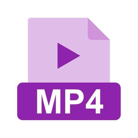 mp4: MP4 file icon Illustration