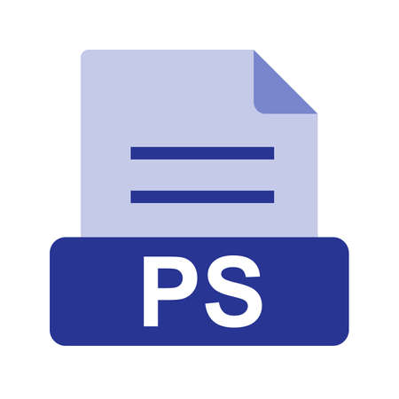 ps: PS file icon Illustration