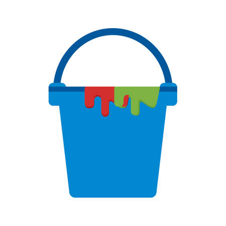 toner: Bucket, paint, plastic icon vector image.Can also be used for art and designing. Suitable for mobile apps, web apps and print media. Illustration