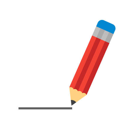 line drawings: Pencil, drawing, line icon vector image.Can also be used for art and designing. Suitable for mobile apps, web apps and print media.