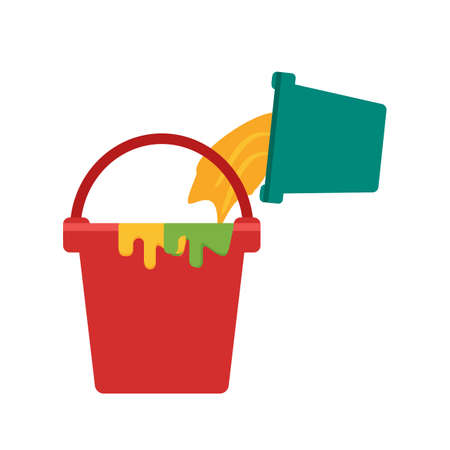 web designing: Bucket, paint, box icon vector image.Can also be used for art and designing. Suitable for mobile apps, web apps and print media.