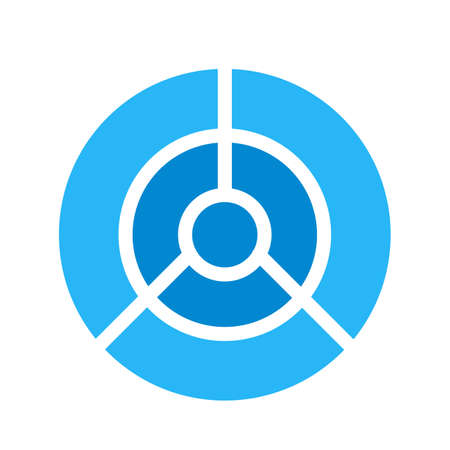 Target, dart, dartboard icon vector image. Can also be used for shapes and geometry. Suitable for use on web apps, mobile apps and print media. 向量圖像