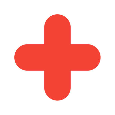negativity: Plus, cross, checkmark icon vector image. Can also be used for shapes and geometry. Suitable for use on web apps, mobile apps and print media.