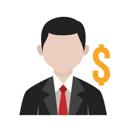 account executive: Business, office, banker icon vector image. Can also be used for activities. Suitable for use on web apps, mobile apps and print media.