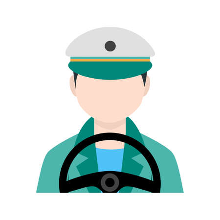 car driver: Car, driving, driver icon vector image. Can also be used for activities. Suitable for use on web apps, mobile apps and print media. Illustration
