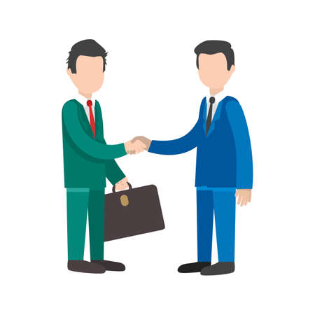 colleagues: Business, handshake, trust icon vector image. Can also be used for activities. Suitable for use on web apps, mobile apps and print media. Illustration