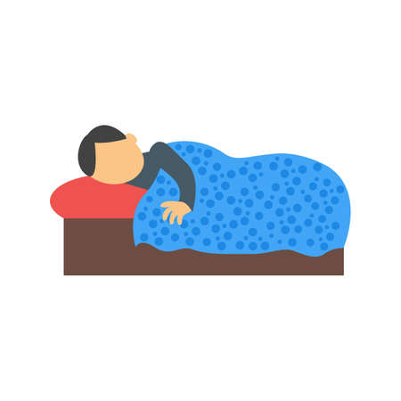 lying in bed: Sleeping, sleep, bed icon vector image. Can also be used for activities. Suitable for use on web apps, mobile apps and print media.