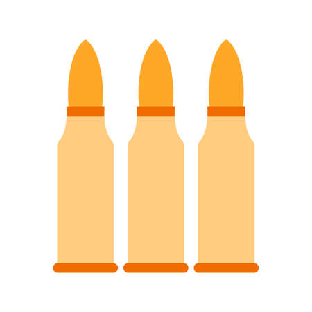 caliber: Bullets, gun, ammunition icon vector image. Can also be used for military. Suitable for use on web apps, mobile apps and print media.