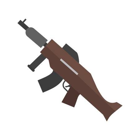 dangerous weapons: Machine, gun, war, icon vector image. Can also be used for military. Suitable for use on web apps, mobile apps and print media.