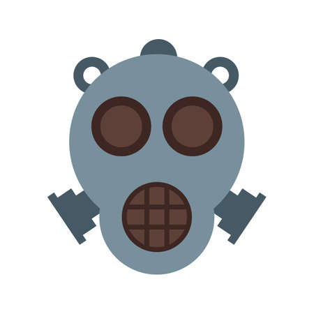 oxygen mask: Oxygen, mask, hospital icon vector image. Can also be used for military. Suitable for use on web apps, mobile apps and print media. Illustration