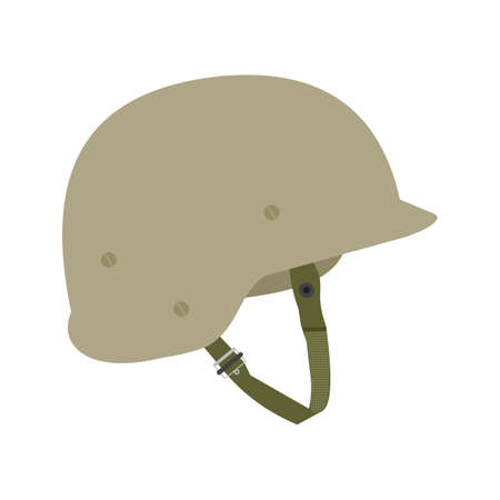 army: Helmet, military, war icon vector image. Can also be used for military. Suitable for use on web apps, mobile apps and print media.