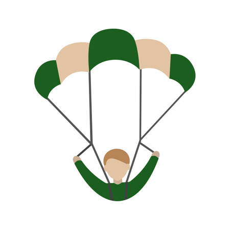 glide: Parachute, skydiving, sport icon vector image. Can also be used for military. Suitable for use on web apps, mobile apps and print media.