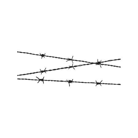 steel icon: Wire, barbed, steel icon vector image. Can also be used for military. Suitable for use on web apps, mobile apps and print media. Illustration