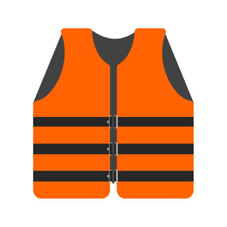 boat accident: Life, jacket, vest icon vector image. Can also be used for military. Suitable for use on web apps, mobile apps and print media.
