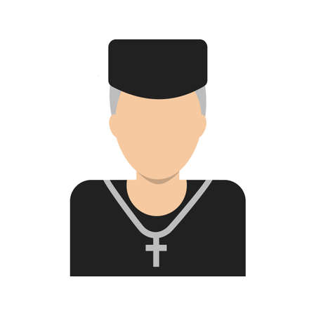 the catholic church: Priest, catholic, church icon vector image. Can also be used for wedding. Suitable for use on web apps, mobile apps and print media.