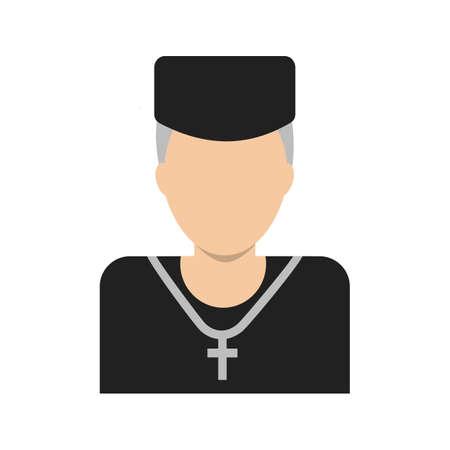 sacerdote: Sacerdote, imagen vectorial católica, icono iglesia. También se puede utilizar para la boda. Adecuado para su uso en aplicaciones web, aplicaciones móviles y material de impresión.