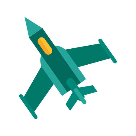fighter plane: Fighter, plane, military icon vector image. Can also be used for military. Suitable for use on web apps, mobile apps and print media. Illustration